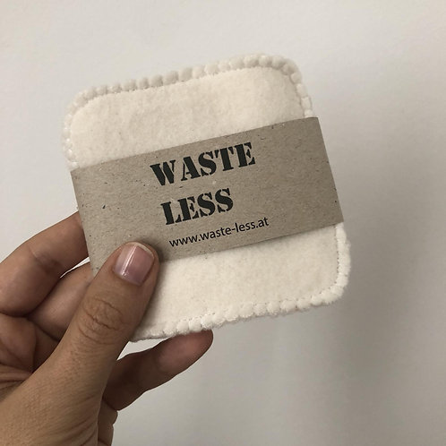 Washable facial wipes organic cotton