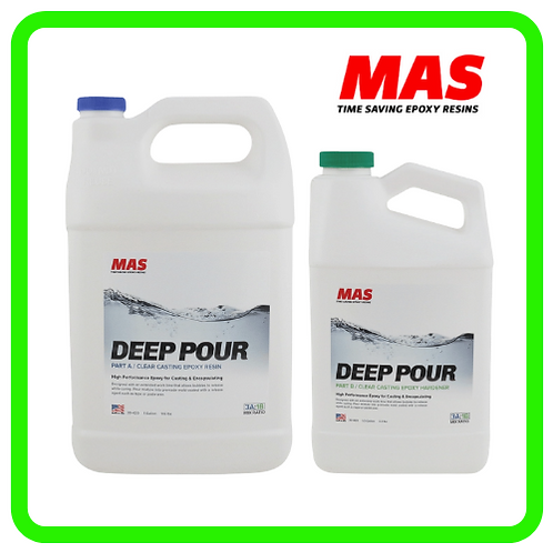 RESINA TRANSPARENTE DEEP POUR EPOXY (vidrio liquido)  - 1 Gal /kit