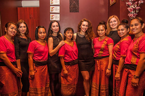 The team of Thai therapists Thaisabai salons in Kiev