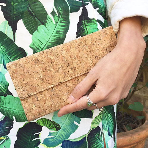 Recycled Cork Long Wallet