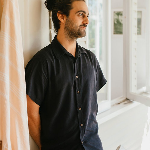 Short Sleeve Button Up (Charcoal)