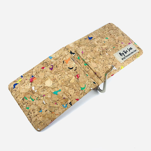Vivid Recycled Money Clip Cork Wallet