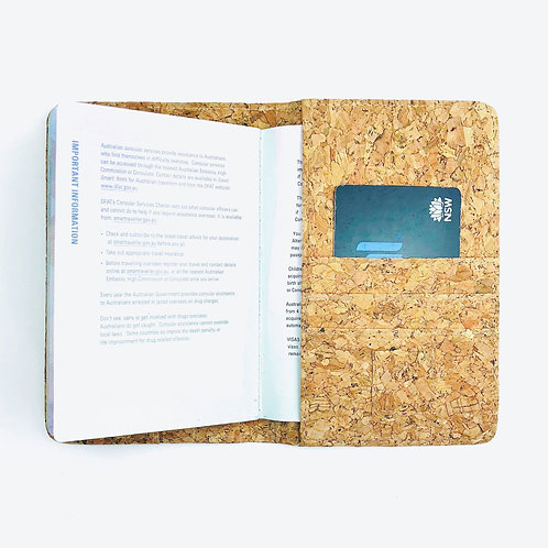 Recycled Cork Passport Holder