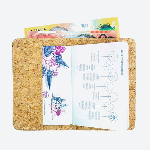 Classic Recycled Passport Holder with Zip Pocket