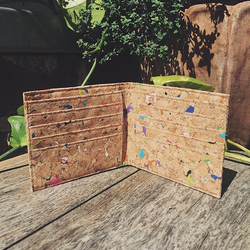 Vivid Recycled Bi-Fold Cork Wallet