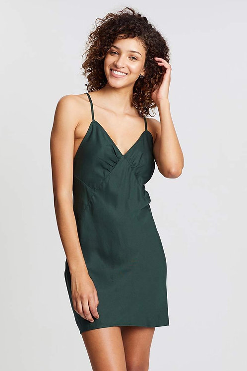Slink Dress (Forest Green) by Aulieude