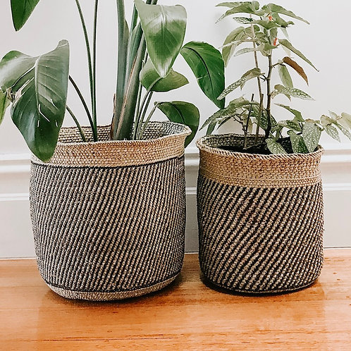 Fairtrade Striped Planter Basket by Collective Sol