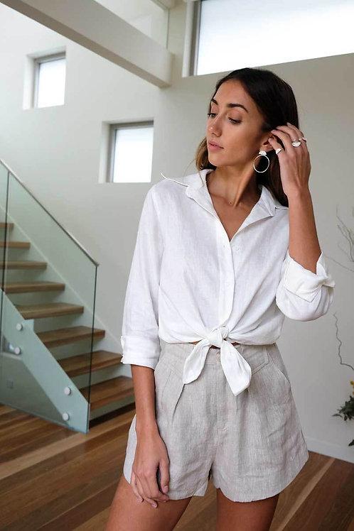 Tori Linen Shirt (Cream) by Aulieude