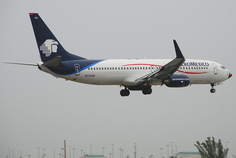 Aeromexico N520AM, Boeing 737-800, B738 by Aero Icarus (license CC by-sa)