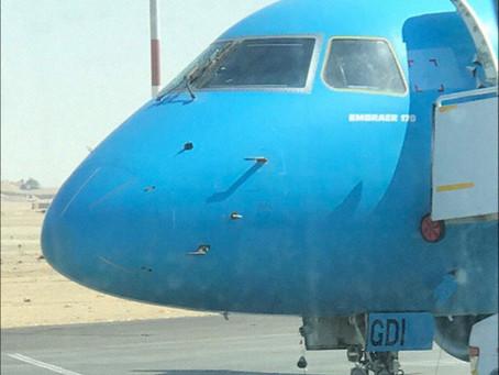 Egypt Air Express, Cracked Windscreen