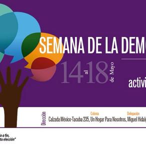 Inauguración de la 1° Semana por la Democracia Joven CDMX del INJUVE CDMX y JuventudEs A.C.