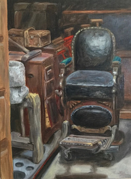 Barber Chair and Internment Camp Dressers