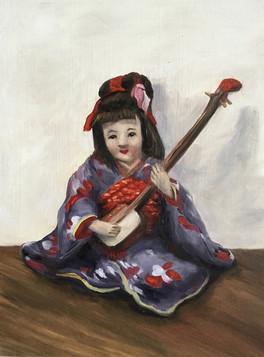 Minidoka Shamisen Musician Doll
