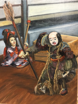 Samurai and Shamisen Musician.jpg