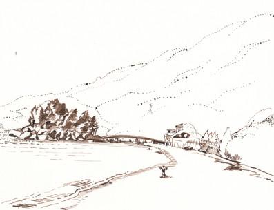 Hakojima Temple Island and Fisherman