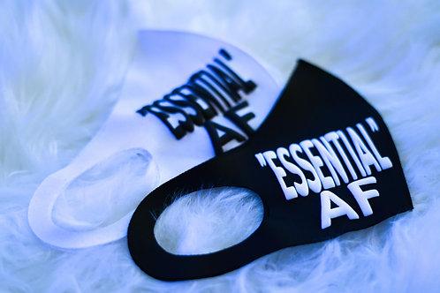 """Black """"ESSENTIAL"""" AF Anti Virus Protection Mask"""
