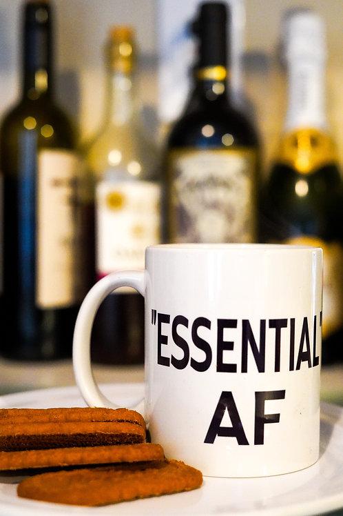 """""""ESSENTIAL"""" AF WHITE COFFEE MUG"""
