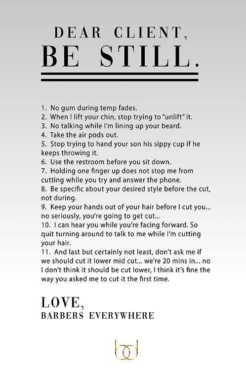 Dear Client Poster
