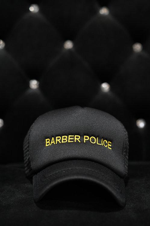 BARBER POLICE TRUCKER CAP