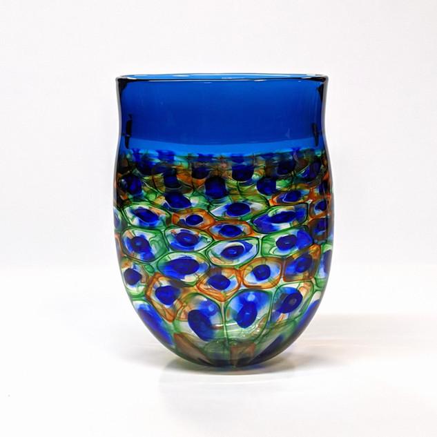 Aquamarine Murrini Vase