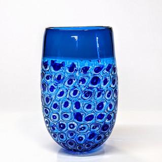 Cobalt Aqua Murrini Vase