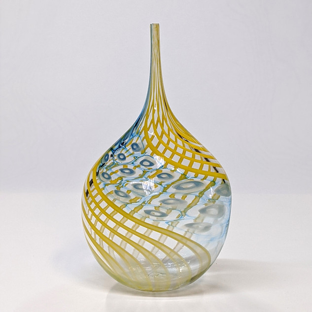 Yellow Murrini Twist Bottle