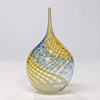 Yellow Murrini Twist Bottle