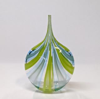 Sky Blue Green Cane Bottle