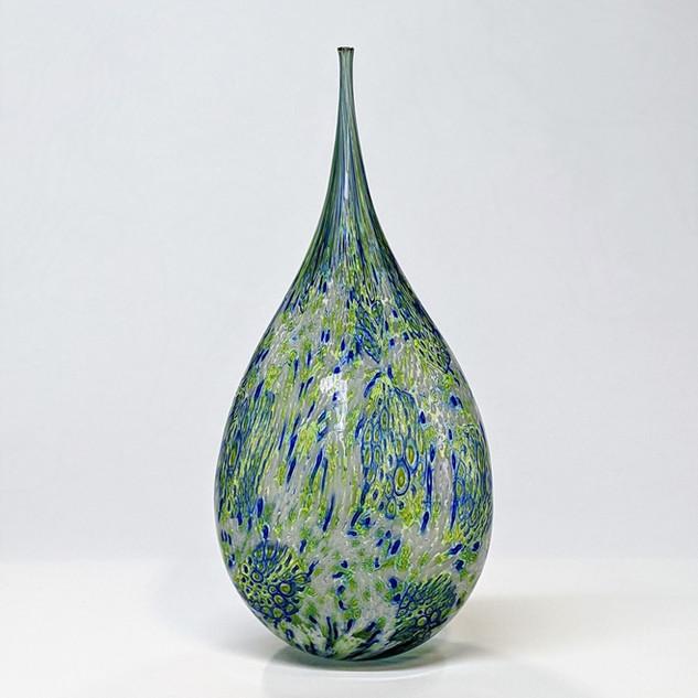 Green Blue Teardrop Bottle