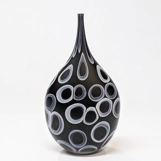 Black Matte Teardrop Bottle