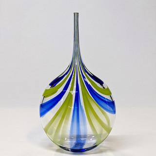 Blue Green Cane Bottle