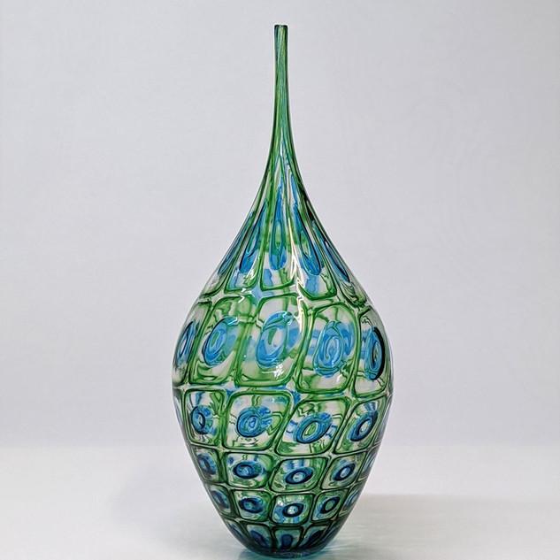 Emerald Aqua Needleneck Bottle