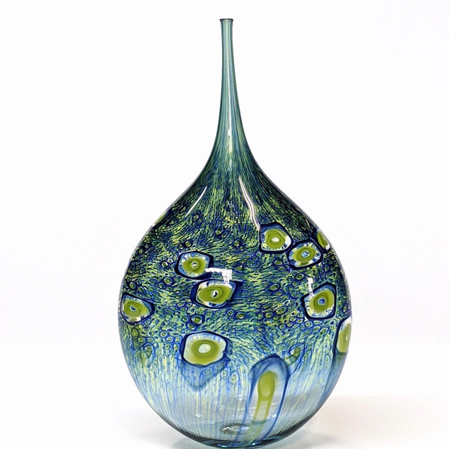 Cobalt Green Teardrop Bottle