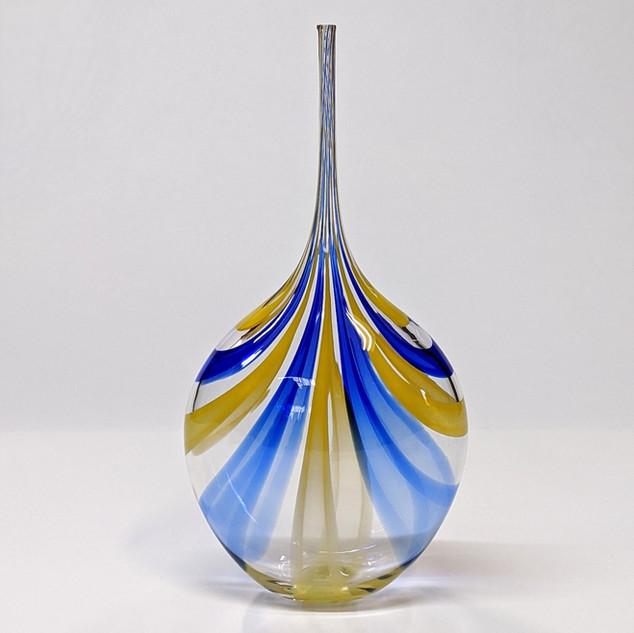 Blue Yellow Cane Bottle