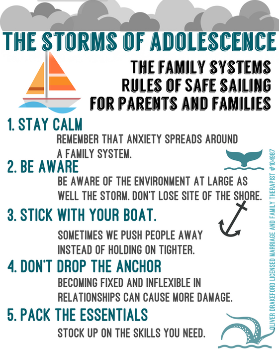 Family Therapy Skills: How To Safely Sail Through The Storms Of Adolescence.