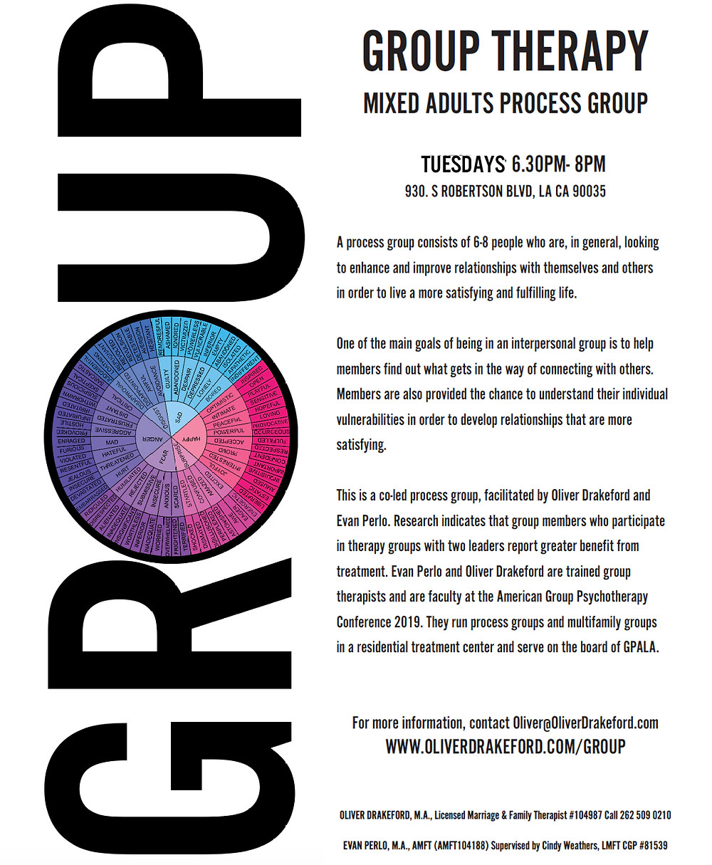 group therapy, beverly hills, los angeles, group therapy, process group