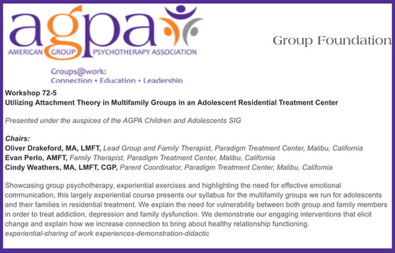 Utilizing Attachment Theory in Multifamily Groups in an Adolescent Residential Treatment Center