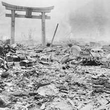 The entrance gate to a temple in Nagasaki, 8/10/1945