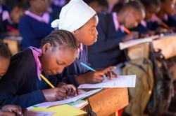 girls school writing WA17Kenya-1406
