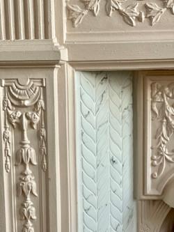 Refurbished fireplace details