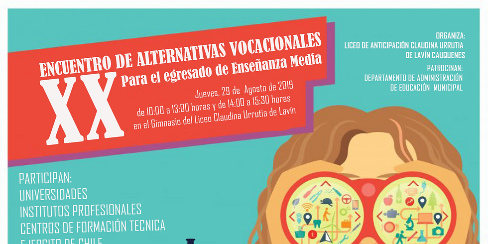 XX Encuentro de Alternativas Vocacionales Para El Egresado de Enseñanza Media