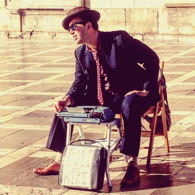 Poet for Hire Benjamin Aleshire, Plaza Nueva, Granada
