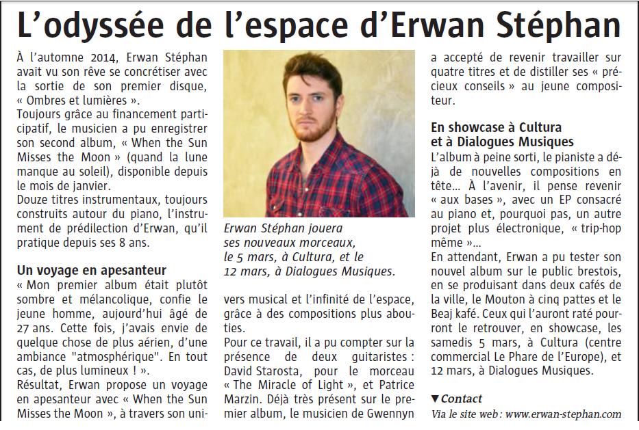 Article le Télégramme Brest