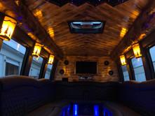 Northwoods Dreamliner Party Bus Interior
