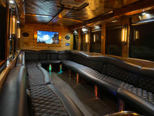 Rustic Dreamliner Party Bus Interior