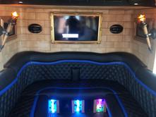 Castle Dreamliner Party Bus Interior Back Seat