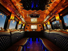 Northwoods Dreamliner Party Bus at Christmas