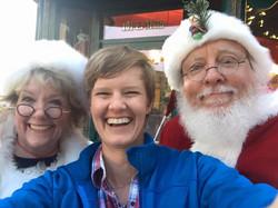 Santa and Mrs Claus Bring Smiles