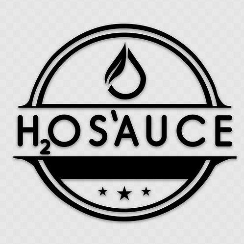 "H2OS'AUCE Transfer Vinyl Sticker- Black (5"" x 4.43"")"
