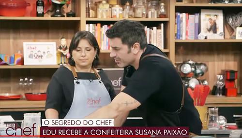 Edu Guedes recebe a confeiteira Susana Paixão na Band